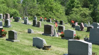 graveyard cemetery headstones graves gravestones
