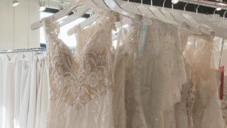 Wedding dresses at Something New Boutique in Colorado Springs.