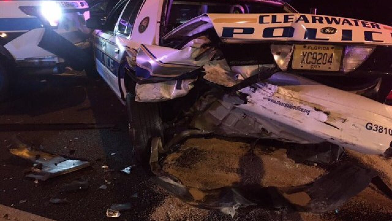 Police officers injured in CCCauseway road crash