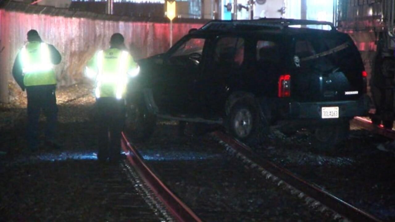 Amtrak train hits SUV in Little Italy