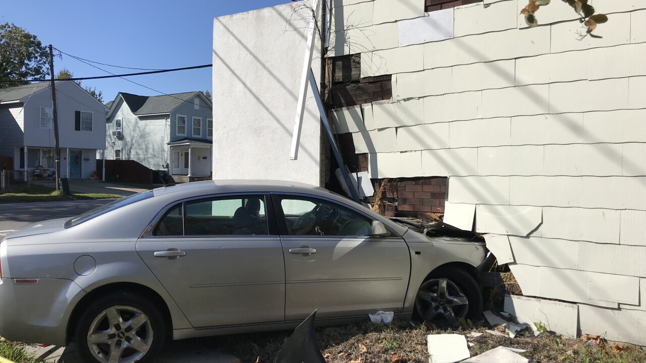 One week after crash, car remains inside Norfolkhome