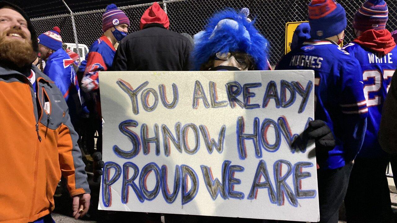 Bills fans thank team for incredible season