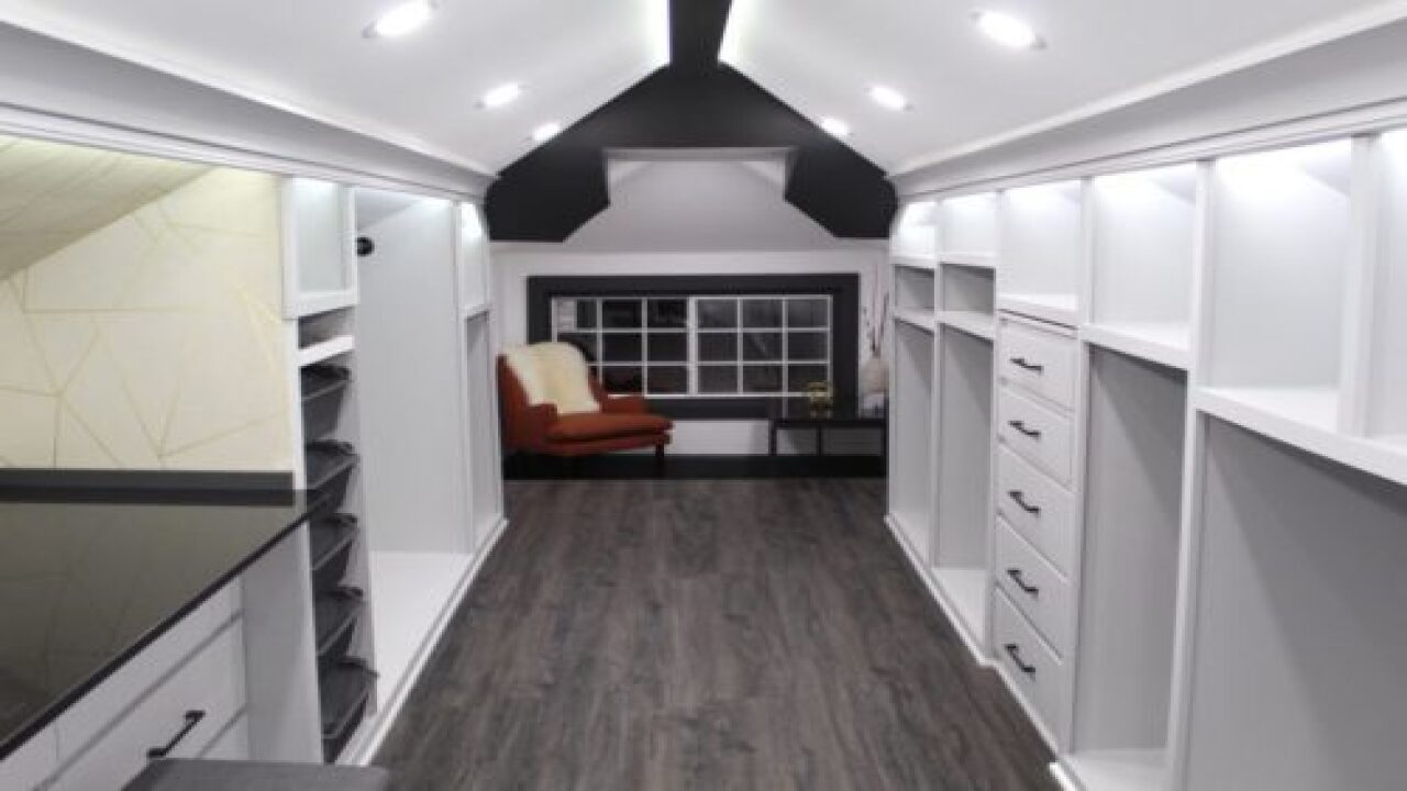 Man Transformed Unfinished Attic Into Dream Closet For His Wife