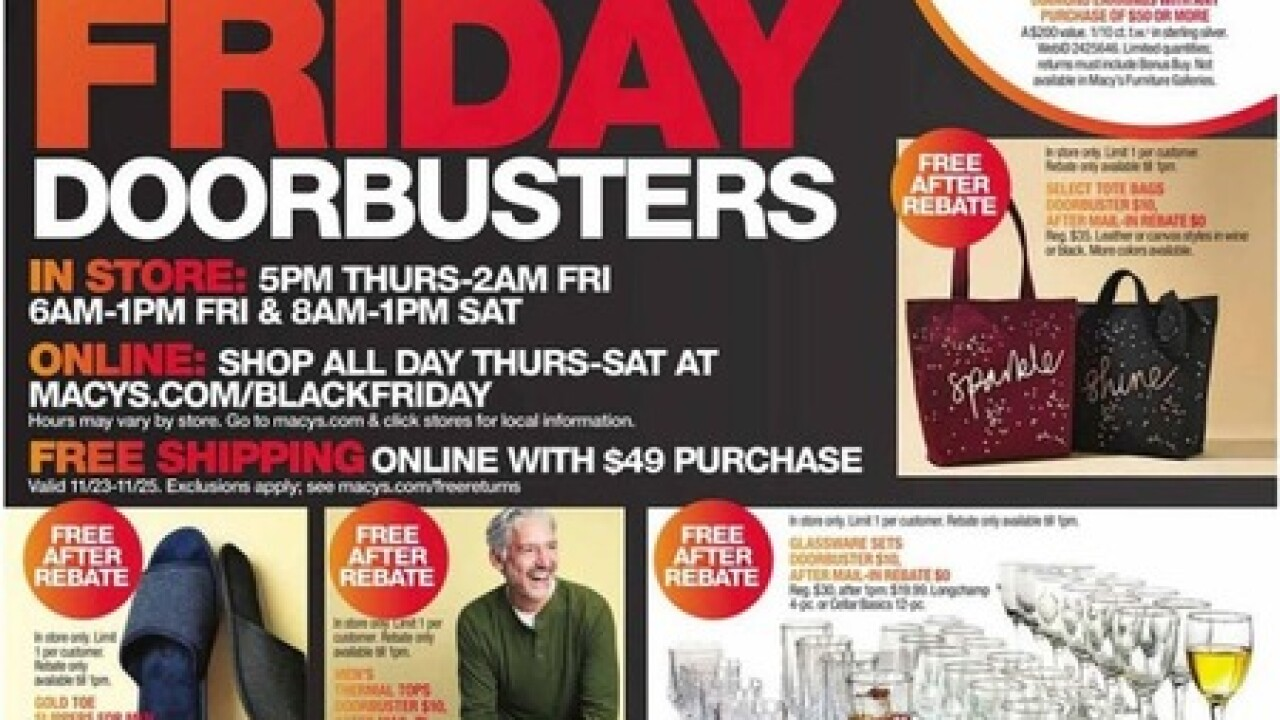 Macy S Black Friday 2018 Ad Is Out Store Opens On Thanksgiving