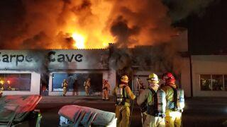 Carpet Cave fire