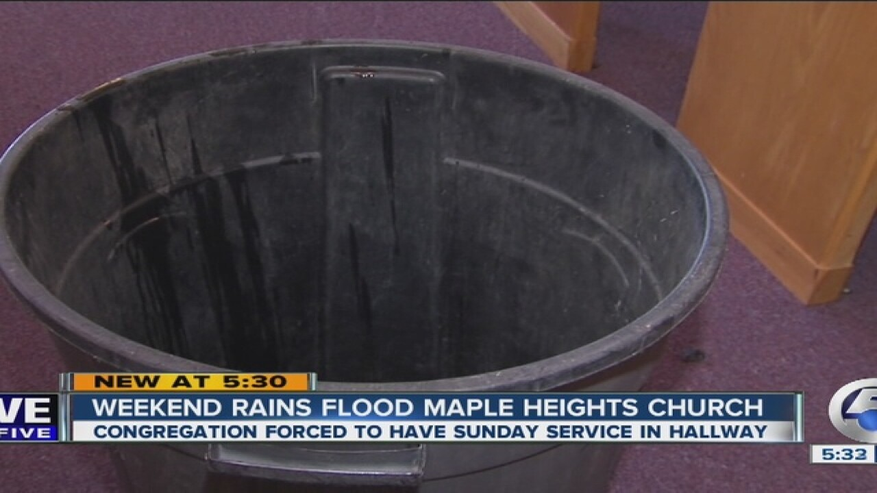 Parishioners come to aid after church floods