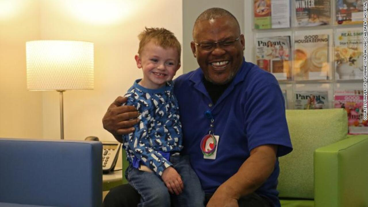 This 4-year-old is best friends with the man who cleaned his hospital room