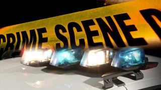 police lights crime tape crime scene investigation AP