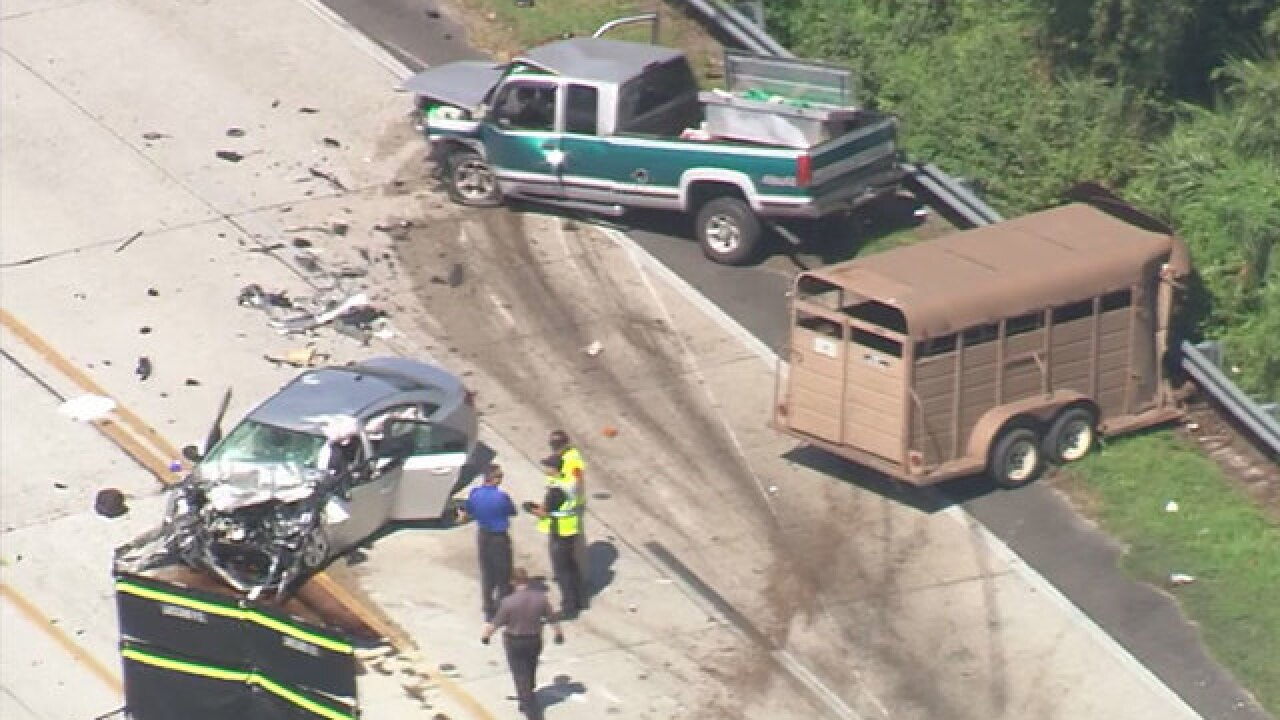 4 dead in head-on crash in central Florida, Lakeland police say