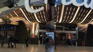 Monolith appears in downtown Las Vegas on Fremont Street