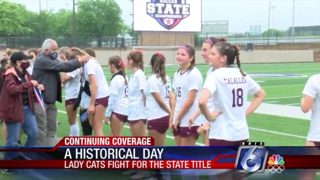 Calallen girls' soccer team made history on Friday