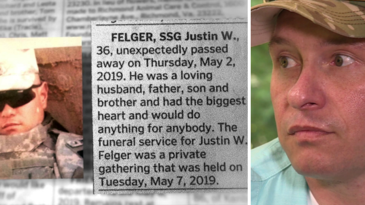 Fake obituary stuns Chesterfield veteran and his family: 'I woke up to the sound of my mom crying'