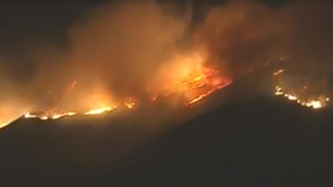 Wildfire erupts in Southern California near Thousand Oaks