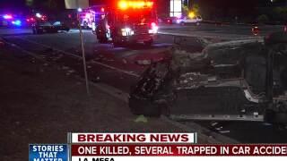 One killed, one injured after La Mesa crash