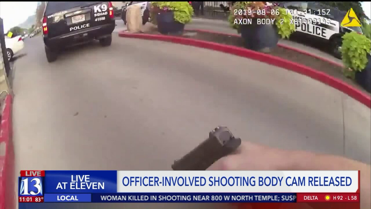 Salt Lake City Police release body cam video from fatal officer-involved shooting on August5th