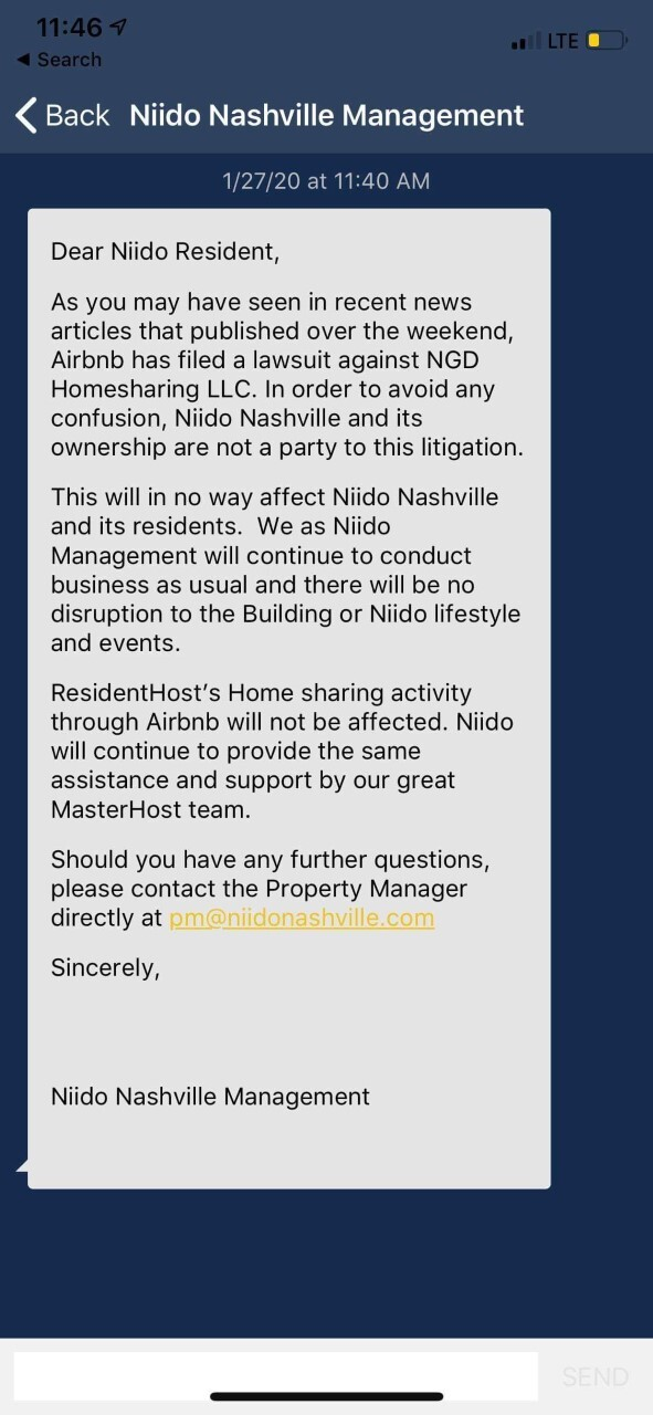 Niido message from management