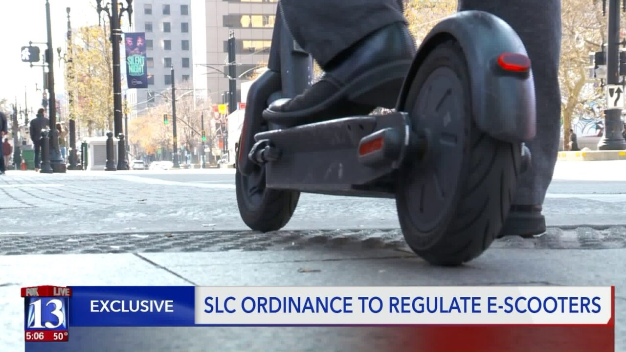Salt Lake City proposes ordinance to regulate scooters that could put the brakes on some ofthem