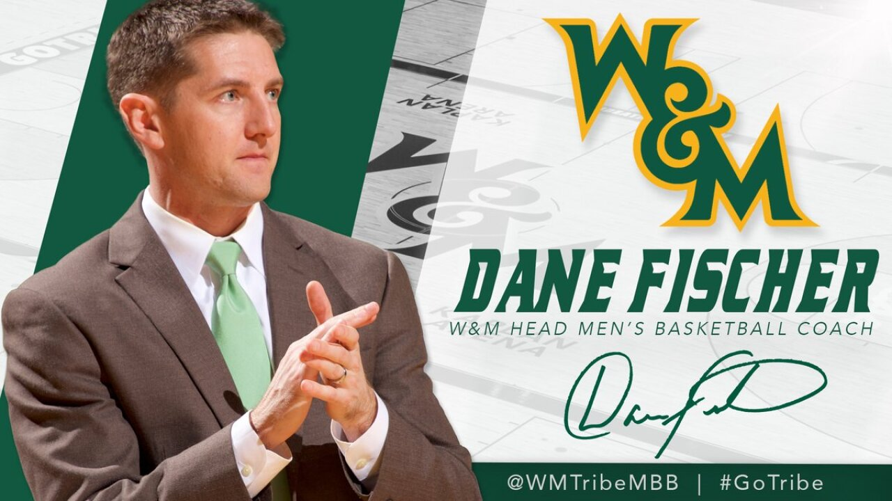 William & Mary hires Dane Fischer as head men's basketball coach