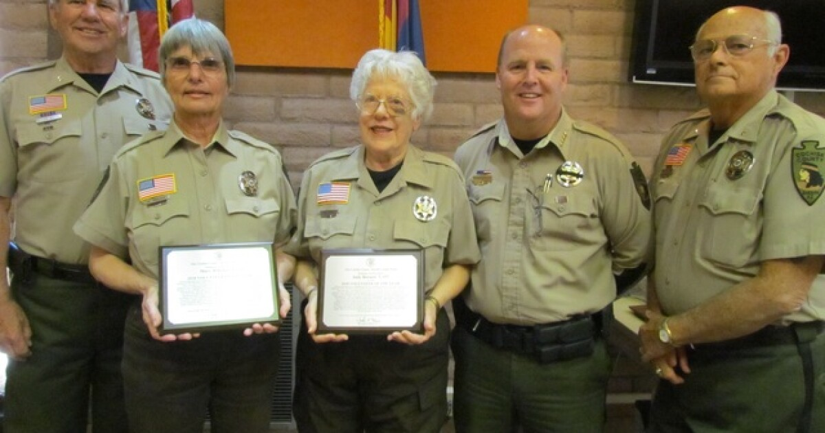 Cochise County Sheriff's volunteers of the year