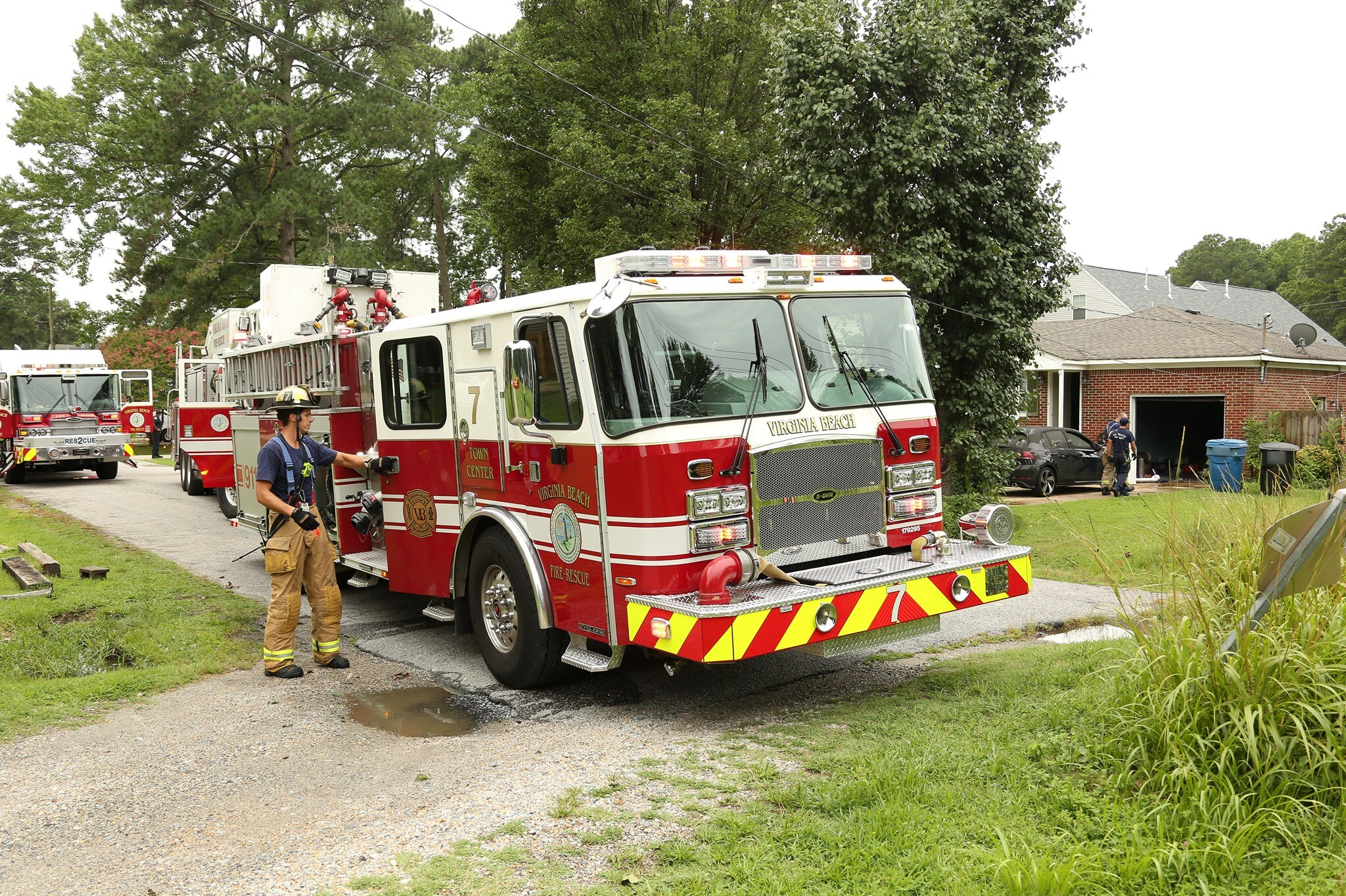 Photos: Officials investigating after house fire in VirginiaBeach