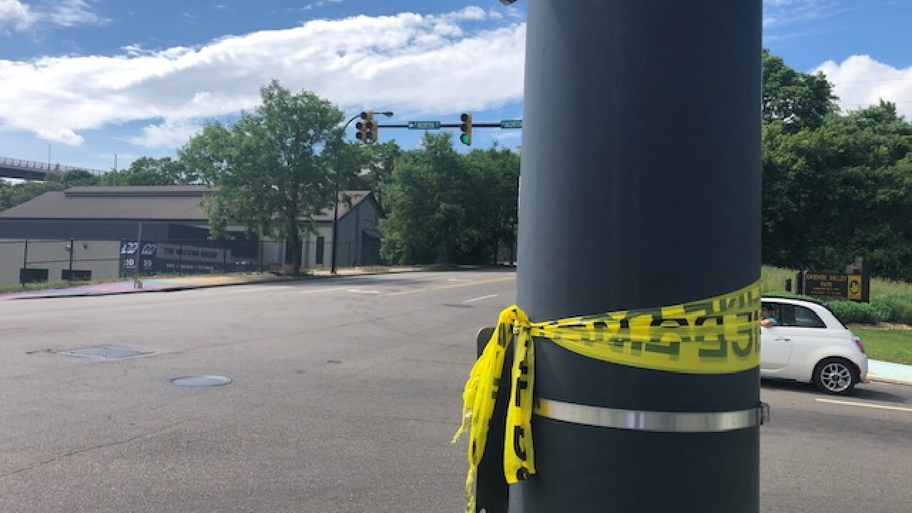 The intersection where Na'Kia Crawford was shot and killed.