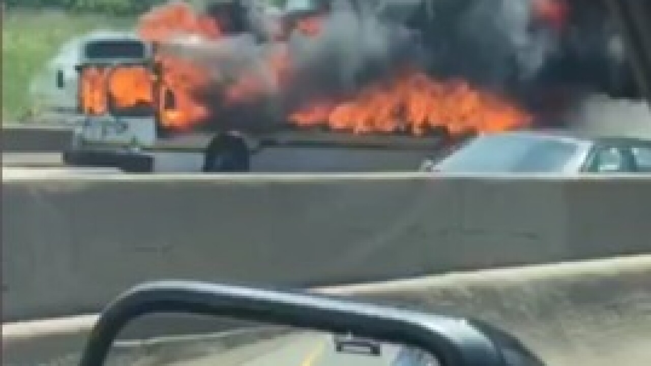 DDOT bus caught fire at I-94 and Warren