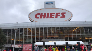 Chiefs fans outside of Arrowhead