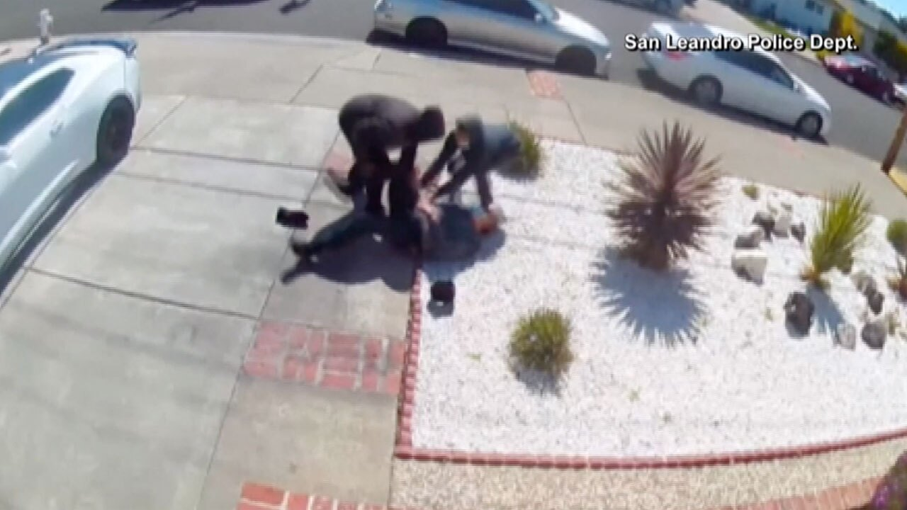 Attack against elderly Asian man in San Leandro, California in May 2021