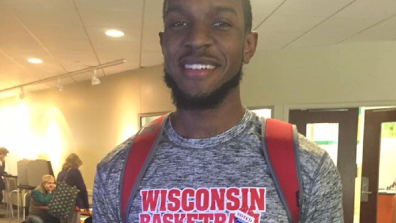 UW Badger Vitto Brown urges students to vote through song