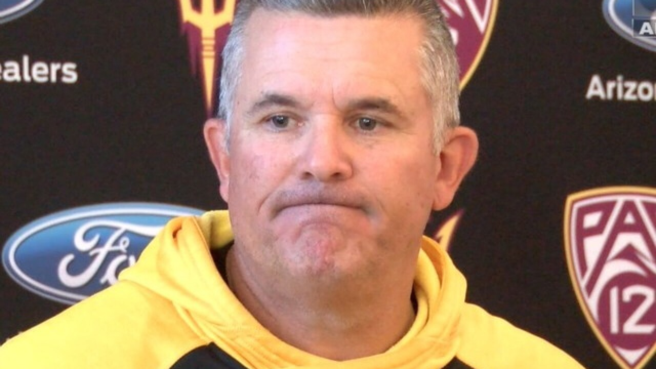 Report Arizona State Sun Devils Football Coach Todd Graham Expects