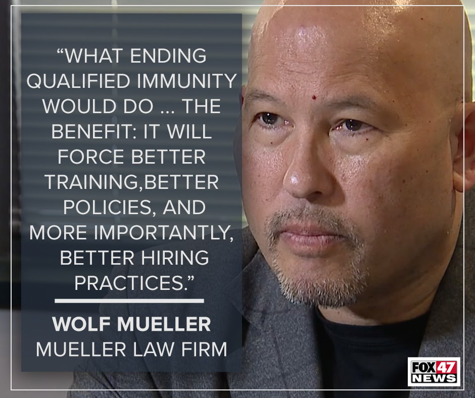 Attorney Wolf Mueller said silent police misconduct, such as hiding and manufacturing evidence, often goes unpunished because it's less visible.