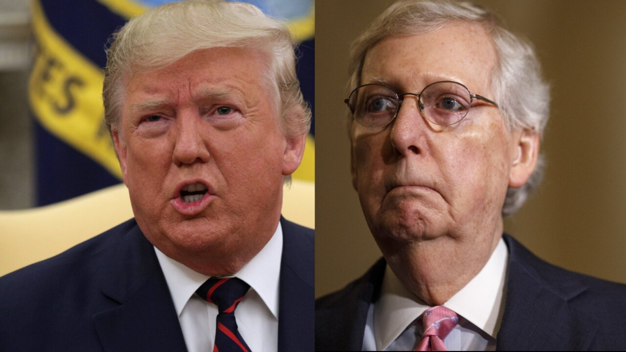 President Donald Trump and Senate Majority Leader Mitch McConnell