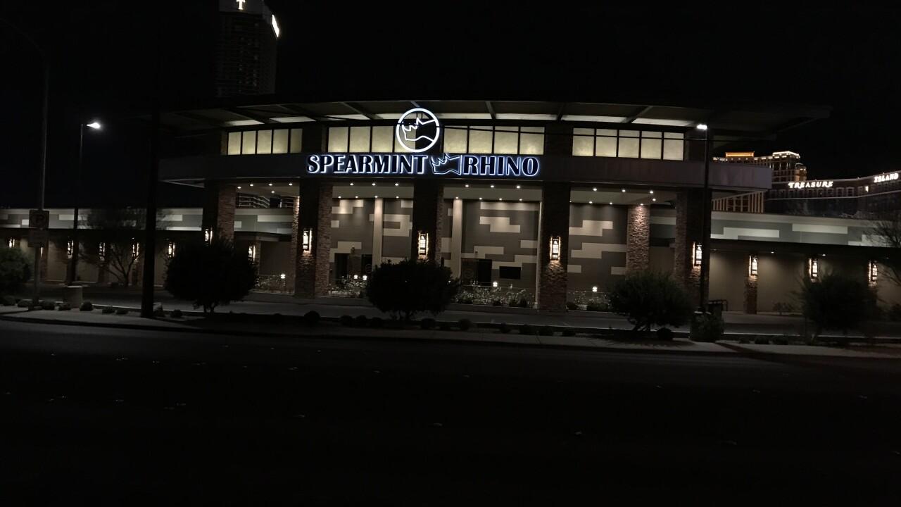 Spearmint Rhino is located in Las Vegas near Desert Inn Road and Highland Avenue.