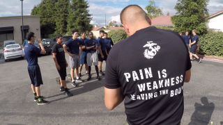 U.S. Marines Recruiting Workout
