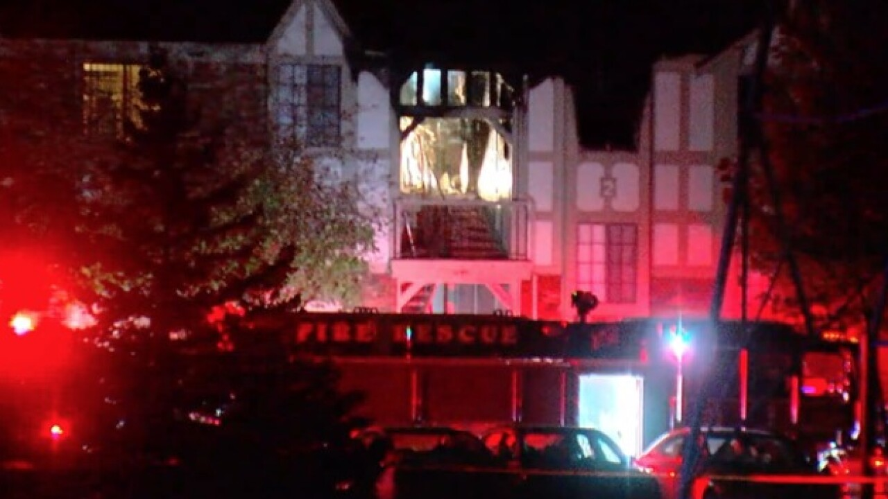 Firefighters battle two-alarm fire at apartment building in Wixom