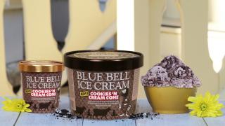 Blue Bell Cookies 'n Cream Cone