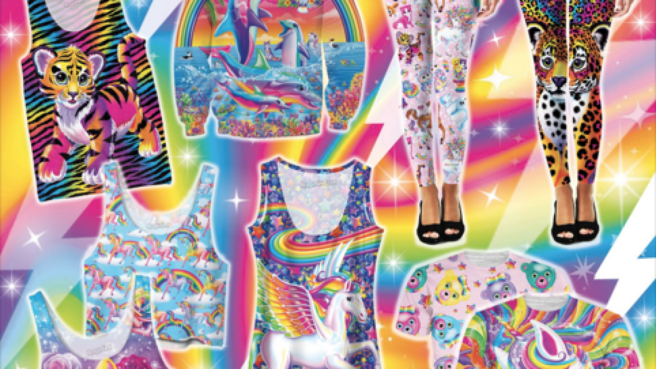 Child of the 90s? Lisa Frank launches new clothing line, adult coloring book