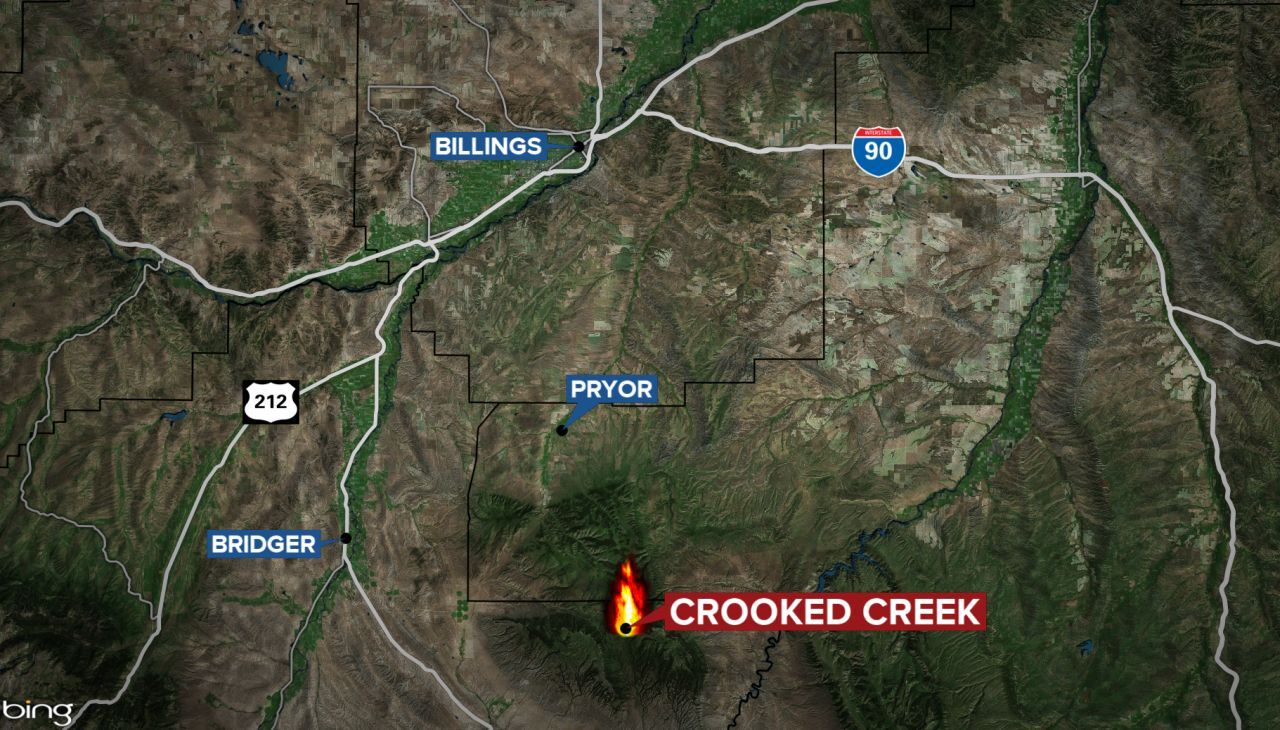 Crooked Creek Fire in the Pryor Mountains