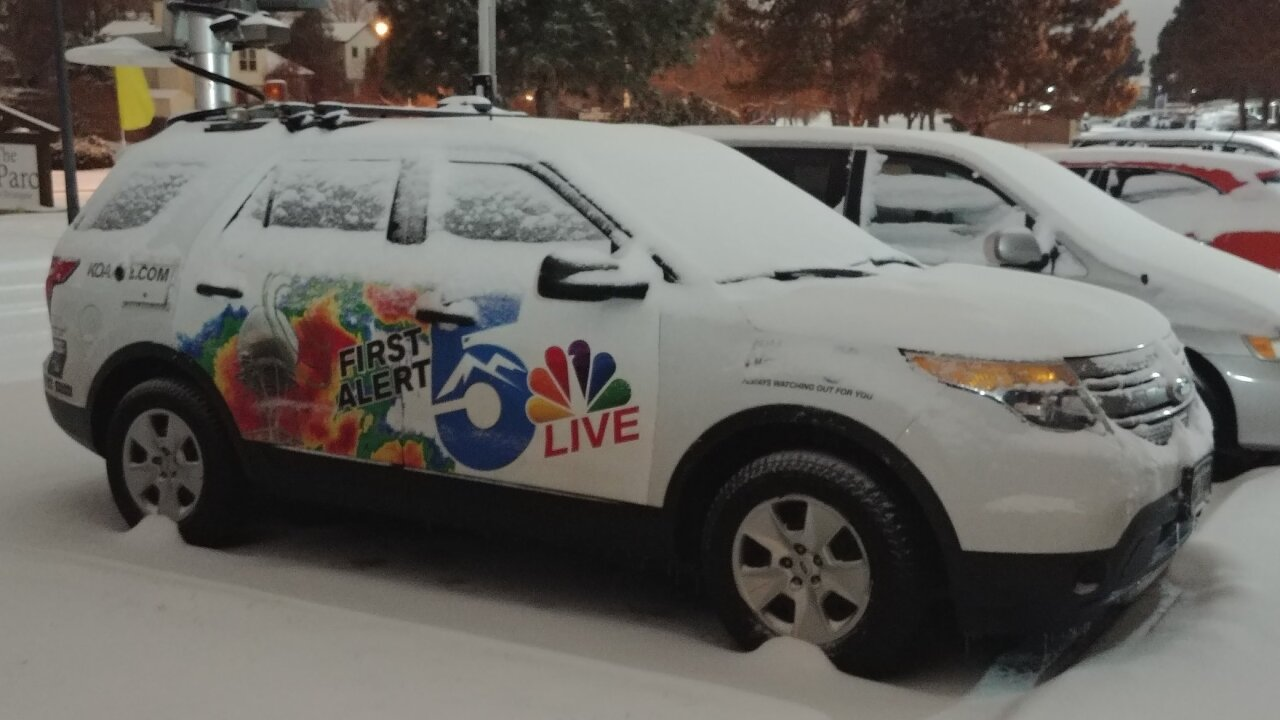 KOAA Live Truck with Snow
