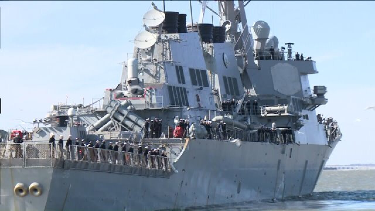USS Laboon leaves Naval Station Norfolk on a six-monthdeployment