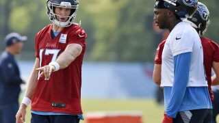 The Tennessee Titans finally get to show off what adding a seven-time Pro Bowl wide receiver can do for their already high-powered offense. AP phoot.