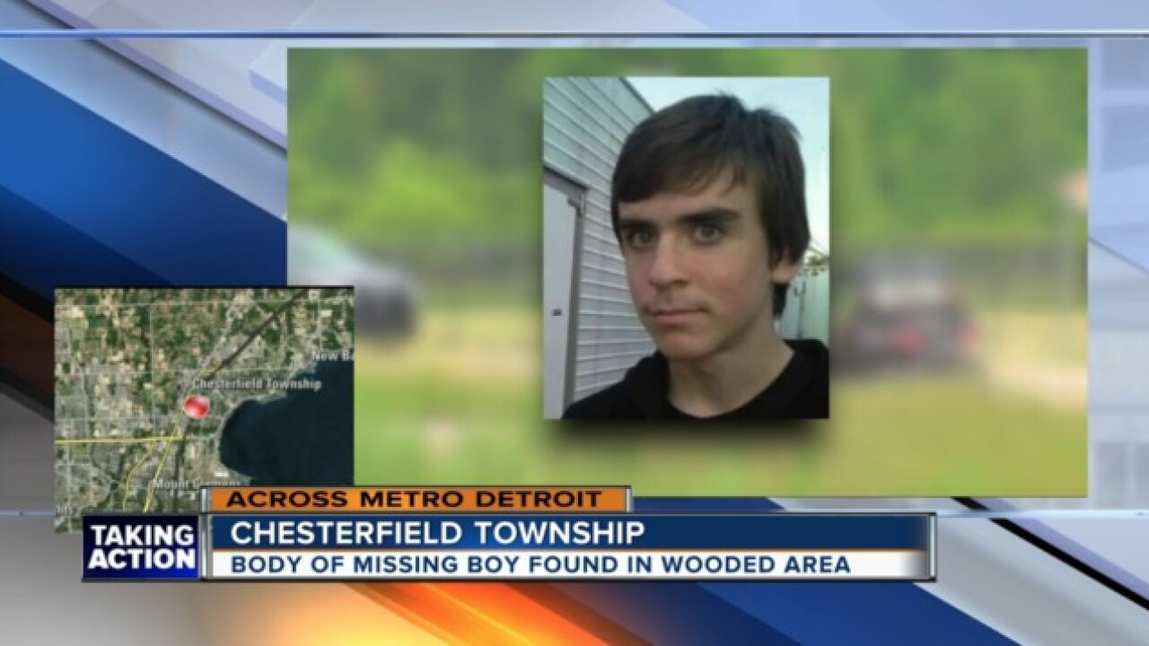 Body of missing 15-year-old found in Chesterfield Township