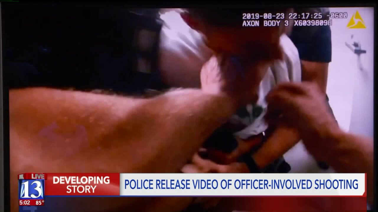 Body cam footage released of West Valley officer-involved shooting during DUI processing