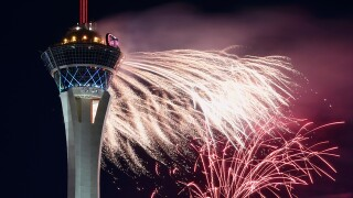 PHOTOS: Fireworks at the Stratosphere   2018