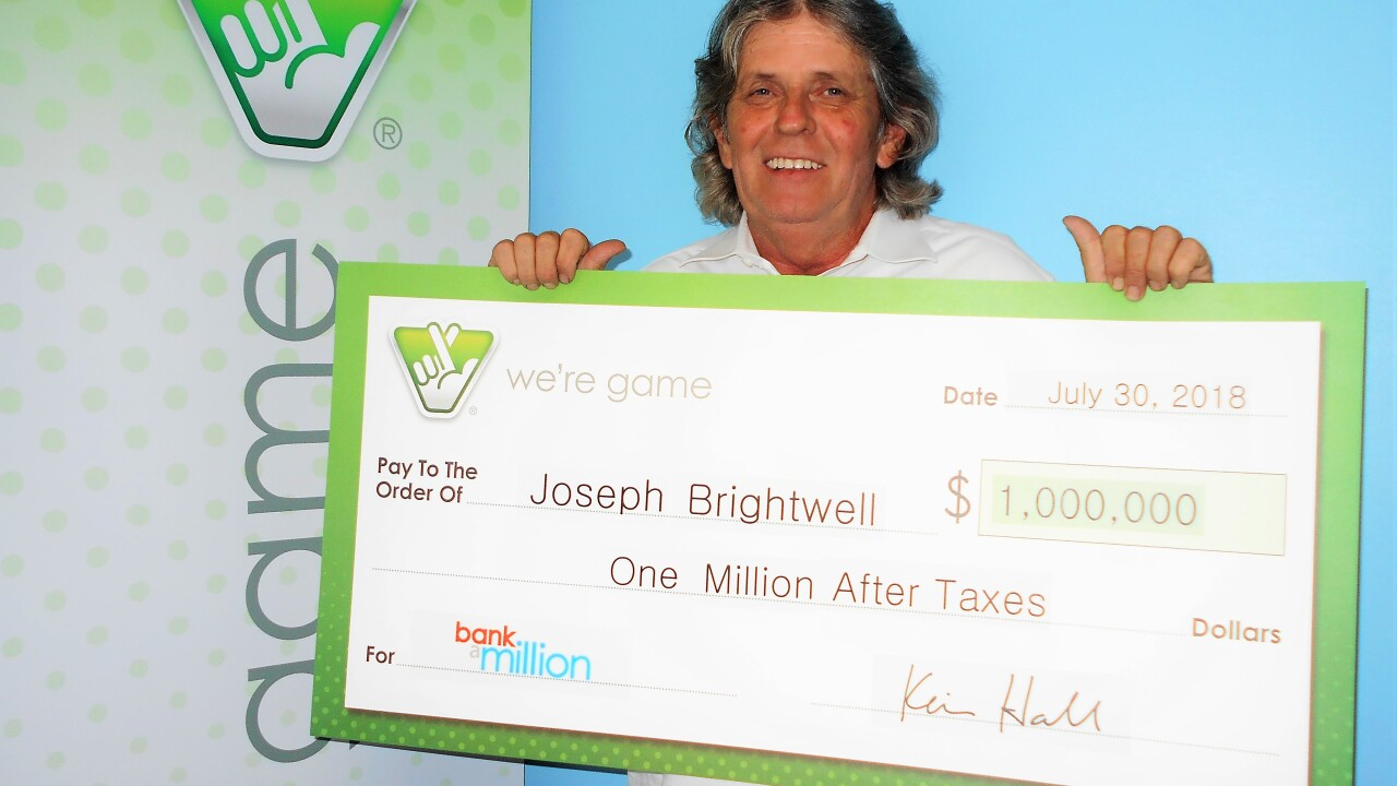 Chesapeake man wins top prize in Virginia Lottery 'Bank a Million' game