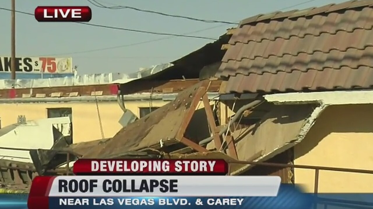Building reportedly collapses in North Las Vegas