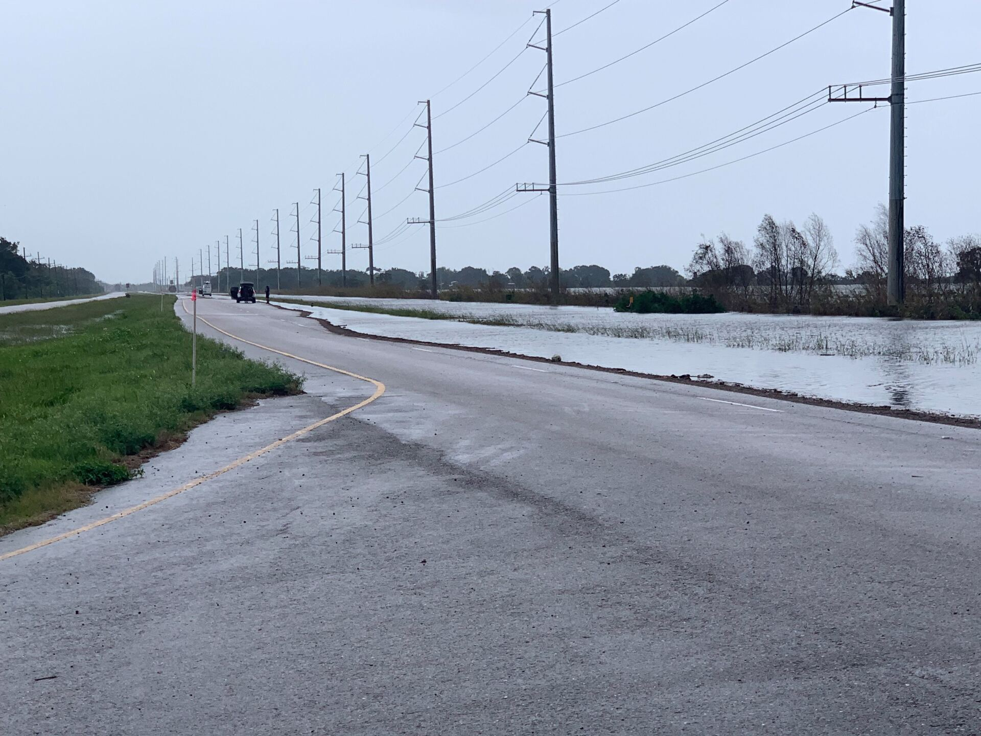 Barry flooding in Plaquemines Parish Louisiana