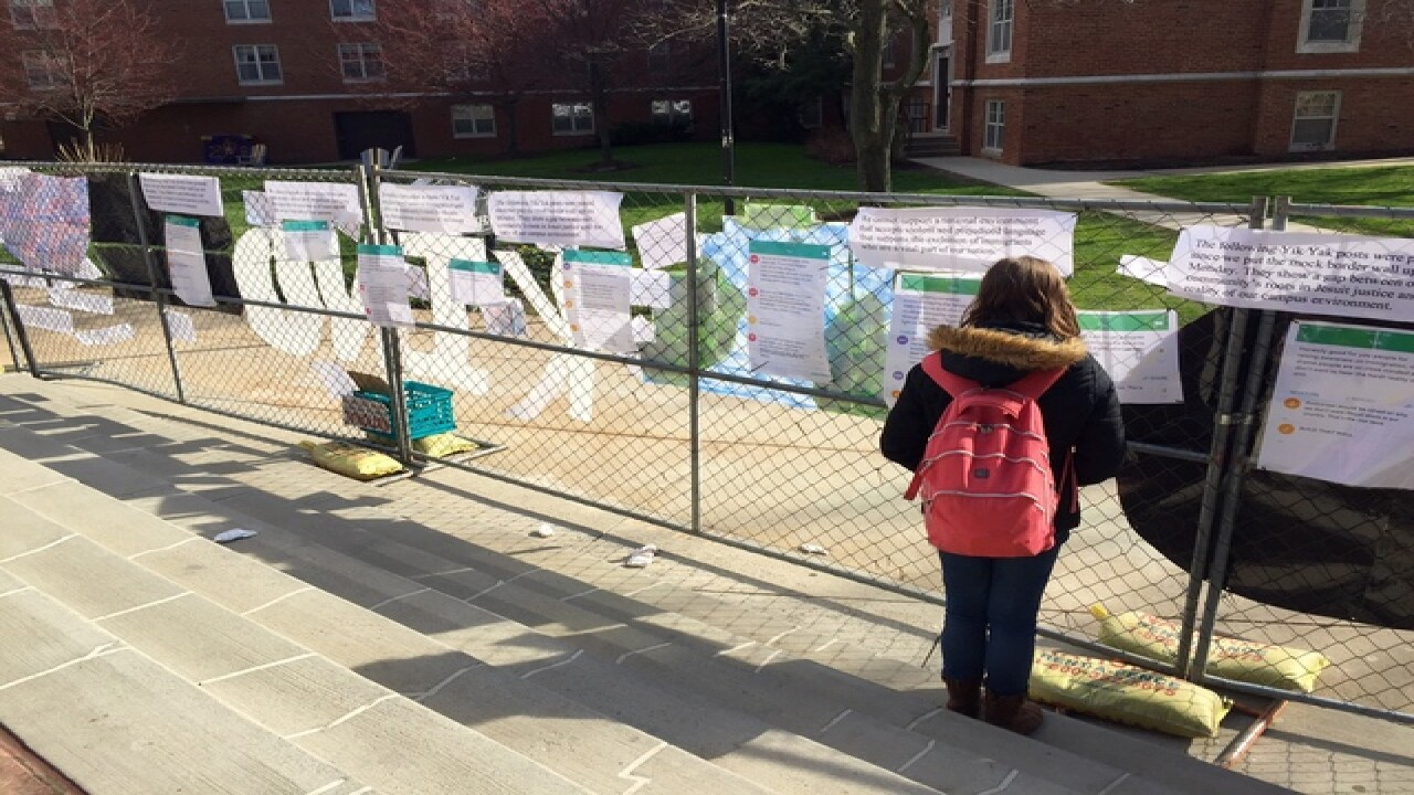 "JCU ""mock border wall"" sparks controversy"