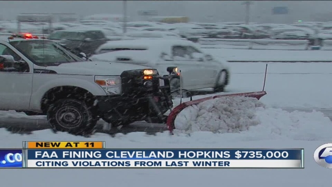 FAA fines CLE-Hopkins $735K for unsafe runways