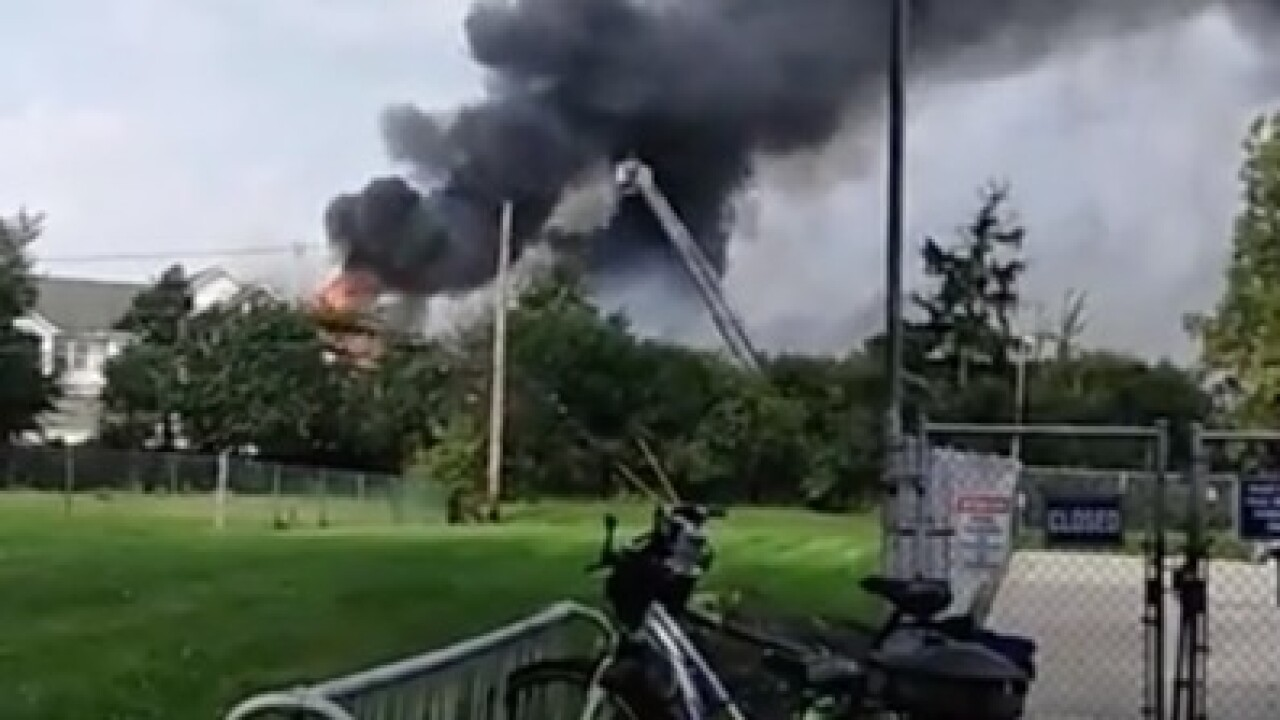 Massive fire at Olmsted Falls apartment complex